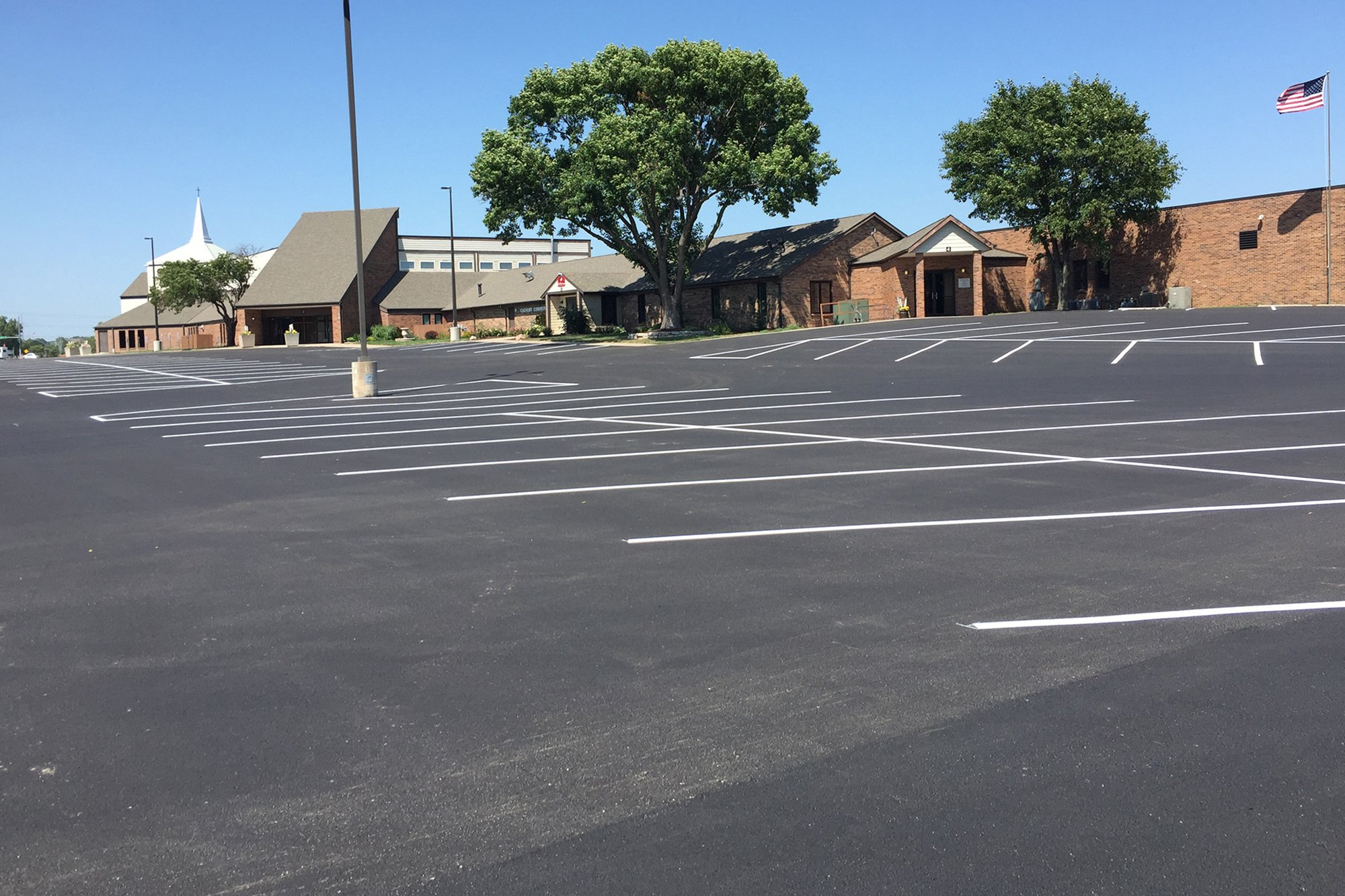 Lincoln Paving Asphalt Repair and Patching Lincoln Asphalt parking lot striping after4 - APMS Lincoln Paving Services